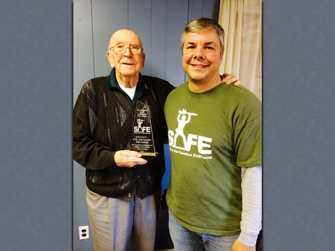 Ted Crozier receives SAFE Community Heroes Award
