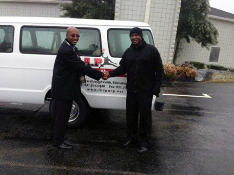 Leap Organization receives donated van from Walnut Grove Missionary Baptist Church.