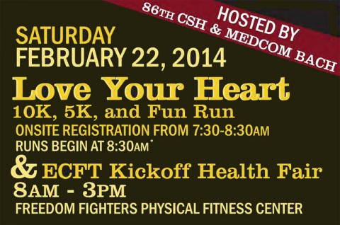 """Love Your Heart"" Eagle Challenge Fitness Tour 2014 Event at Fort Campbell"