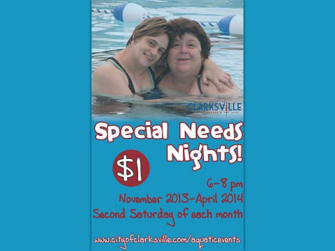 Special Needs nights at the Indoor Aquatic Center