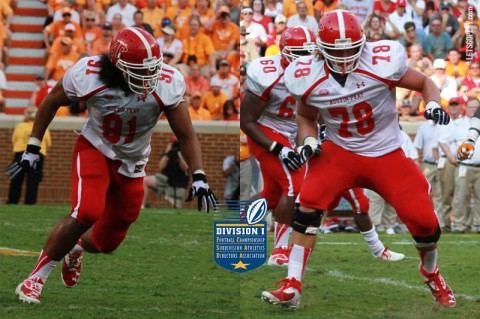 Austin Peay football players Ben Stansfield and Iosua Siliva named to FCS ADA Academic All-Star Team. (APSU Athletics)
