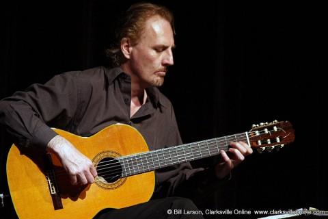 APSU Professor of Music Stanley Yates playing at GuitarFest.