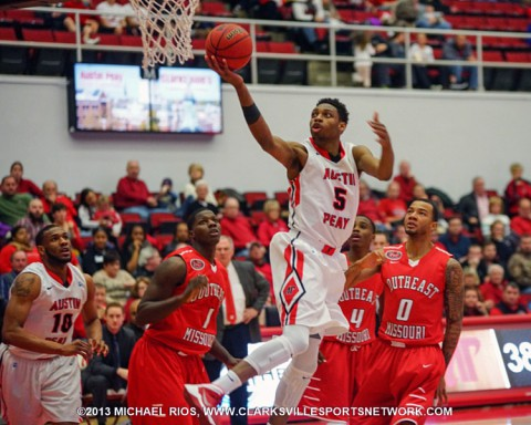 APSU's Chris Horton had 21 points and 12 rebounds against Southeast Missouri.