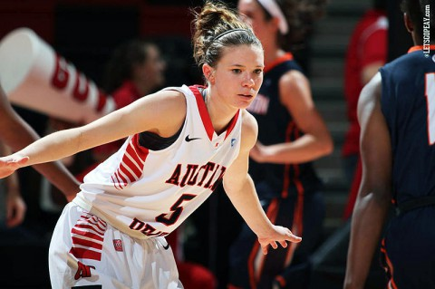 Senior Nicole Olszewski leads the Austin Peay Women's Basketball team into Monday's OVC battle at Belmont. (Brittney Sparn/APSU Sports Information)