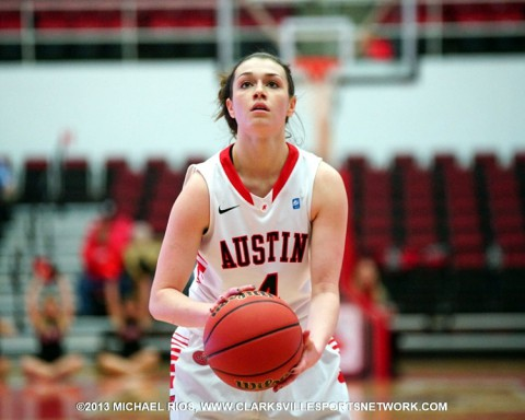 APSU Lady Gov's junior Kirsten Stainback scored 21 points in loss at UT Martin Saturday.