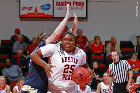 Freshman Tearra Banks scored a career-high 19 points in the Lady Govs win at SIUE, Monday. (Brittney Sparn/APSU Sports Information)