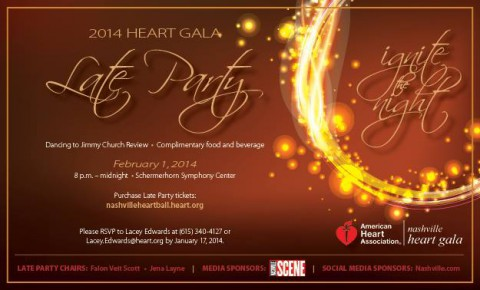 American Heart Association Heart Gala Late Party