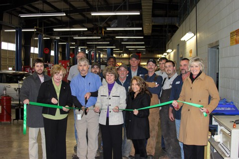 Clarksville City Garage Green Ribbon Cutting Ceremony.