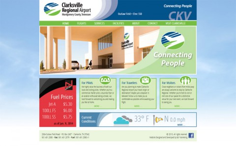 Clarksville Regional Airport announces new website