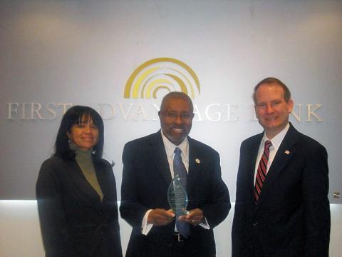 First Advantage Bank's  Feleesha Johnson, Michael Croom, and Walter Perry.