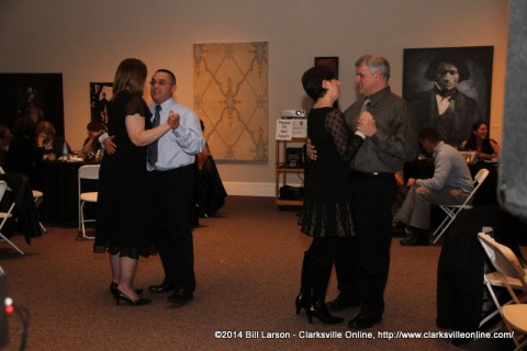 Couples dancing at the Calico Ball