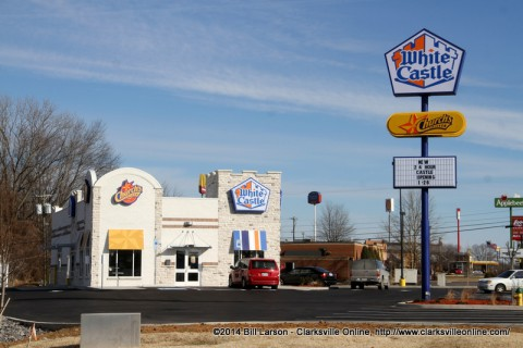 The remodeled Wilma Rudolph Boulevard White Castle