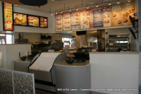 The serving counter at the newly remodeled White Castle