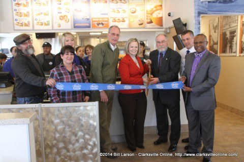 The Ribbon Cutting at the New White Castle
