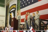 Brig. Gen. Mark R Stammer addresses the assembled troops