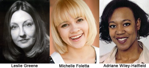 """The Vagina Monologues"" starring Leslie Greene, Michelle Foletta and Adriane Wiley-Hatfield at the Roxy Regional Theatre beginning January 10th."