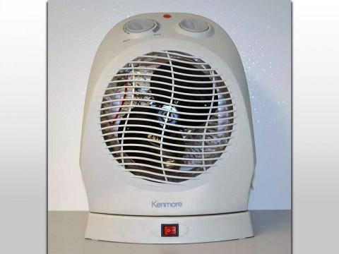 Sears Kmart Kenmore oscillating fan heater.
