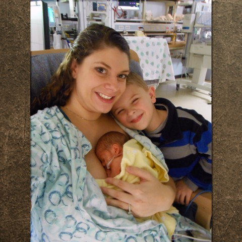 Stacy Robers with sons Aidan and Ethan