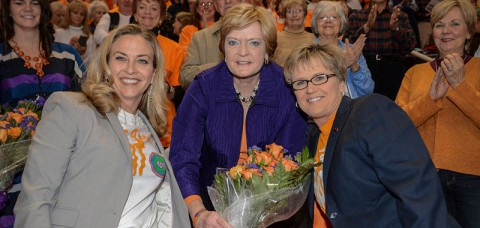 "Tennessee Women's Basketball beats Florida on ""We Back Pat"" night. (UT Sports)"