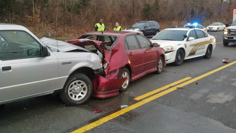 Traffic Crash on Fort Campbell Boulevard (41A) near Gate 1.
