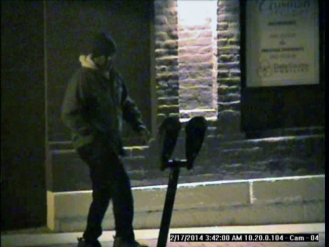 Clarksville Police are looking to identify the person in this photo wanted for Parking Meter Theft.