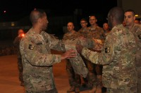 Col. Charles R. Hamilton, the commander of the 101st Sustainment Brigade, 101st Airborne Division (Air Assault), led Soldiers from the brigade home after a nine-month deployment to Afghanistan in support of Operation Enduring Freedom Feb. 15, at Fort Campbell. It was the third deployment for the brigade headquarters in five years.