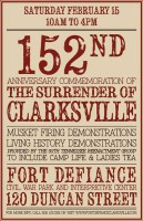 152nd Anniversary of the Surrender of Clarksville