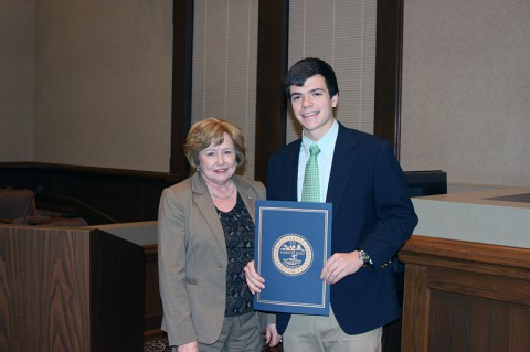 Montgomery County Youth honoree Nick Cunningham.