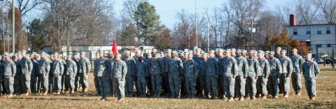 "Soldiers assigned to 591st Engineer Company, 3rd Special Troops Battalion, 3rd Brigade Combat Team ""Rakkasans,"" 101st Airborne Division (Air Assault), join other companies in their Welcoming Ceremony here, Jan. 2014. The 591st have a rich historical history and will provide a great deal of experience and knowledge to the Rakkasan Brigade in future missions. (Sgt. Brian Smith-Dutton/U.S. Army)"
