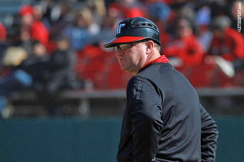 Austin Peay head coach Gary McClure picked up his 800th career win in the Govs 7-4 victory against Iowa, Sunday.February 16th, 2014. (Brittney Sparn/APSU Sports Information)