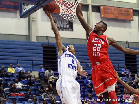 Austin Peay Men's Basketball faces the Eagles in Morehead Kentucky Wedensday. (Mateen Sidiq-Nashville Sports Network)