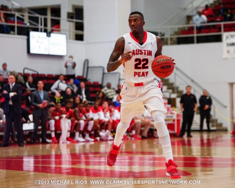 Austin Peay junior Damarius Smith is averaging 8.9 points per game and a conference-best 5.9 assists per game.