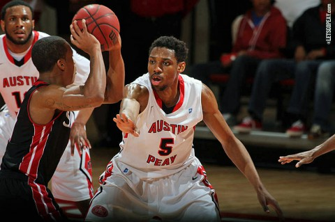 Austin Peay Men's Basketball play to UT Martin Saturday. (Brittney Sparn/APSU Sports Information)