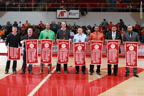 2003-04 Austin Peay Governors Basketball team honored. (Brittney Sparn/APSU Sports Information)