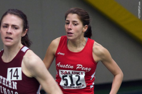 Austin Peay senior Xiamar Hudson placed fifth in the 3000m run. (APSU Sports Information)
