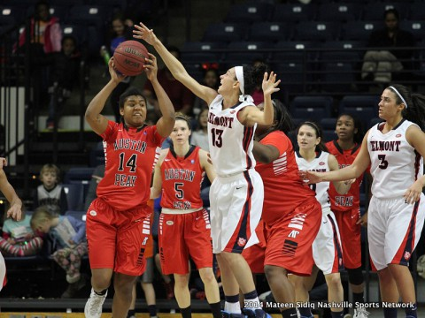 Austin Peay Women's Basketball's late comeback falls short against Belmont. (Mateen Sidiq Nashville Sports Network)