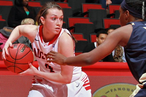 Austin Peay junior Kristen Stainback scores 10 points for the Lady Govs Saturday night against SIU Edwardsville. (APSU Sports Information)
