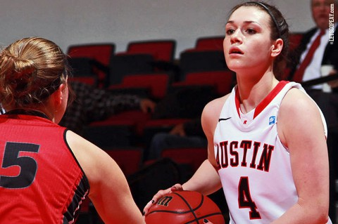 Austin Peay junior Kristen Stainback and the Lady Govs look to snap their three-game losing streak when Eastern Illinois comes to the Dunn Center for a 7:00pm, Monday contest. (Brittney Sparn/APSU Sports Information)