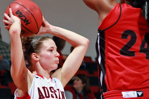 Austin Peay's Nicole Olszewski suited up in the Dunn Center for the final time against Eastern Kentucky. (Brittney Sparn/APSU Sports Information)
