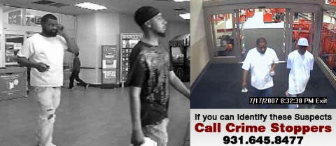 Clarksville Police are looking for information on these suspects in connection to a One Hundred-Dollar Bill Scam.