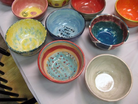 "Empty Bowls to hold ""Paint-a –thon"" at the Pottery Room on Saturday, September 17th, 2016."