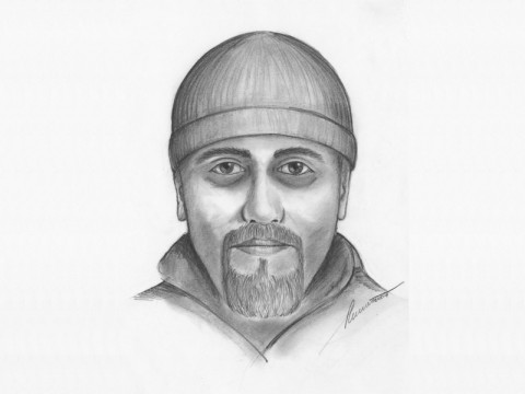 The TBI sketch of the suspect. Anyone with information is asked to call Investigator Geoffrey Blanchard at 931.648.0611, ext. 13408.