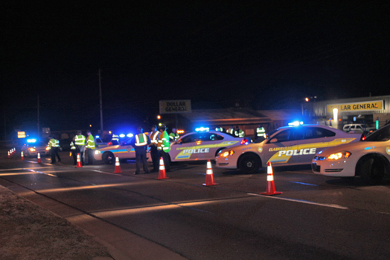 Clarksville Police, Tennessee Highway Patrol, Montgomery County Sheriff's Office conducted checkpoints, saturation patrols and a DUI Operation Superbowl weekend.