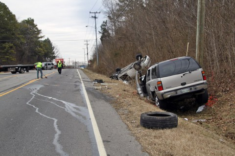 Three Vehicle accident on 41A Bypass near Glendale Drive February 7th, 2014.