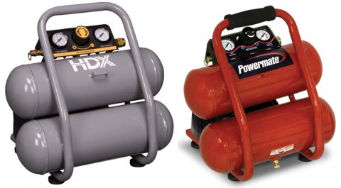 The HDX air compressor and Powermate air compressor being recalled by MAT Industries.