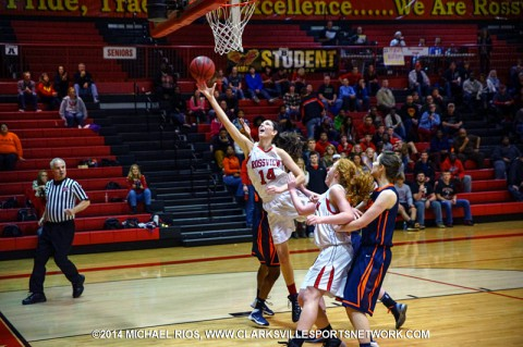 Rossview Girl's Basketball advances to region final with win over Beech. (Michael Rios-Clarksville Sports Network)
