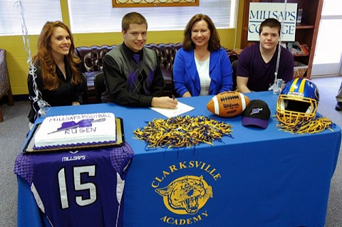 Clarksville Academy's Jacob Rugen signs with Millsaps College. (photo courtesy Clarksville Academy)