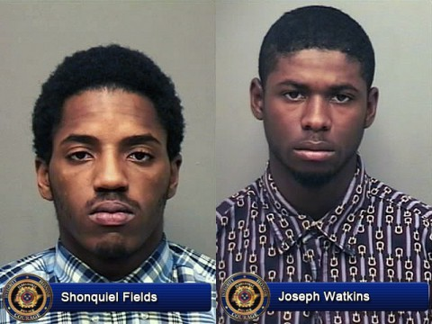 Shonquiel Fields and Joseph Watkins arrested by Clarksville Police for Robbery.