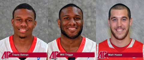 Austin Peay senior Will Triggs and two-year player Travis Betran will be recognized on Senior Night Saturday. Former Govs center-turned-student assistant Matt Hasse will also be saluted.