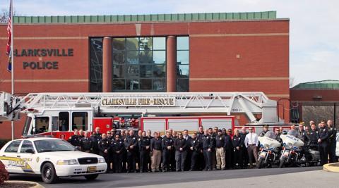 Clarksville Police and Clarksville Fire Rescue wish Tyler Seddon a Happy Birthday!